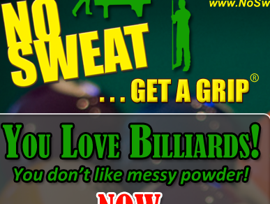 No Sweat Lotion for Billiards